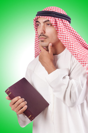kameez: Arab man praying on white