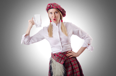 kilt: Scottish traditions concept with person wearing kilt