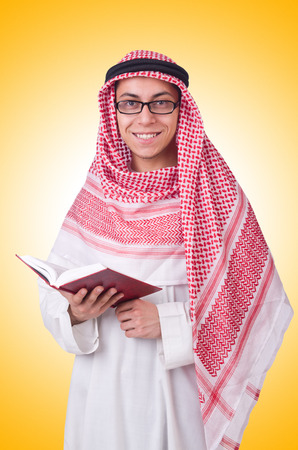 Young arab man isolated on white Stock Photo