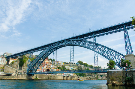 luis: Dom Luis bridge in Porto, Portugal