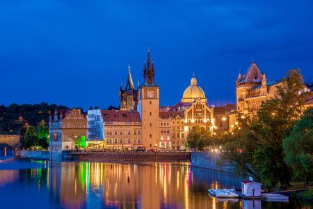 vltava: View of Vltava river in Prague