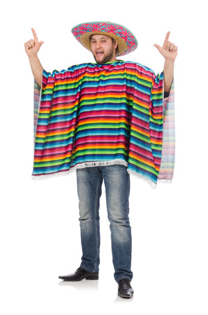 Funny mexican isolated on white