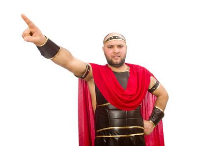 bordo: Gladiator isolated on white Stock Photo