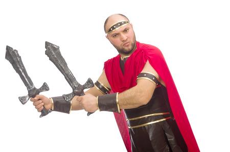 bordo: Gladiator with sword isolated on white