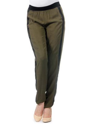khaki pants: Clothes for pregnant women isolated on white Stock Photo