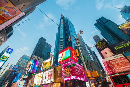 new york times: New York - DECEMBER 22, 2013: Times Square on December 22 in USA, New York. Times Square is the most popular tourist spot in New York Editorial