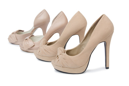 Woman shoes isolated on the white background photo