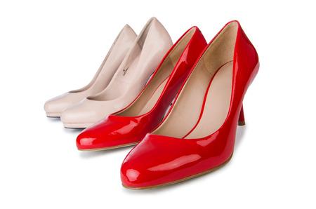 Set of shoes isolated on the white background photo