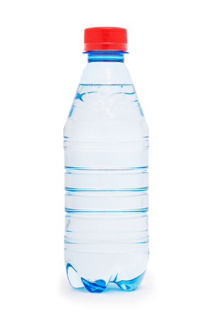 Water bottle isolated on the white photo