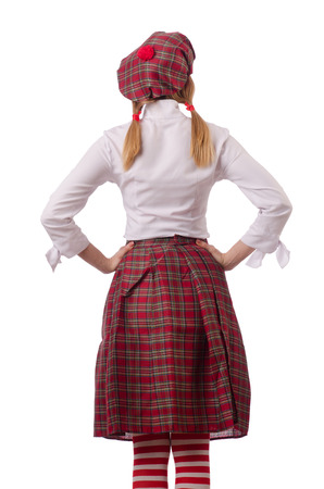 sporran: Woman in traditional scottish clothing