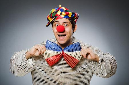 birthday clown: Funny clown against dark background