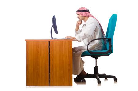 bohra: Arab businessman working on computer