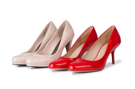 opentoe: Set of shoes isolated on the white background