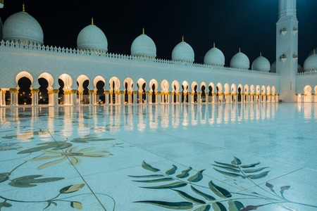 sheikh zayed mosque: Sheikh Zayed Mosque in Abu Dabi Stock Photo