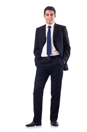 formal attire: Businessman in formal attire isolated on white