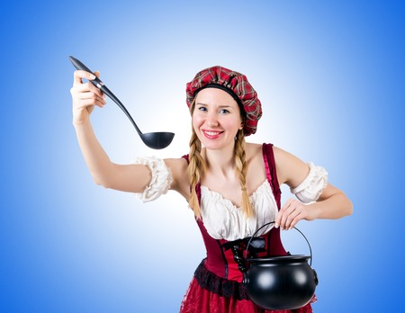 Young woman in traditional german costume photo