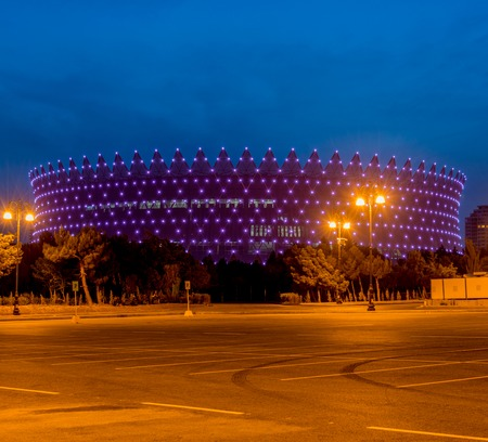 azeri: BAKU - MAY 10, 2015: Heydar Aliyev Sports Complex on May 10 in BAKU, Azerbaijan. Baku Azerbaijan will host the first European Games