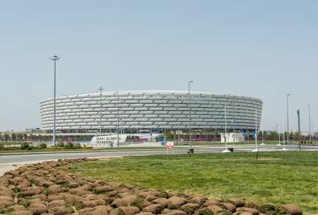 olympic stadium: BAKU - MAY 10, 2015: Baku Olympic Stadium on May 10 in BAKU, Azerbaijan. Baku Azerbaijan will host the first European Games Editorial
