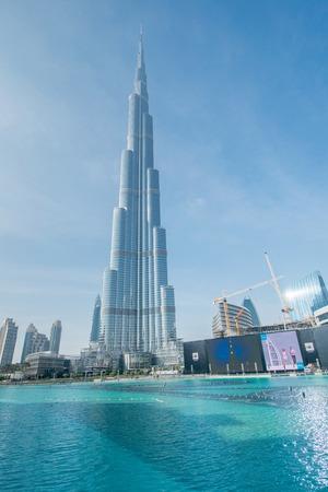 arab spring: Dubai - JANUARY 10, 2015: Burj Khalifa on January 10 in UAE, Dubai. Burj Khalifa is the tallest building in the world