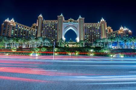 atlantis: Dubai - JANUARY 8, 2015: Atlantis the Palm Hotel on January 8 in UAE, Dubai. Atlantis is luxury hotel in Dubai Editorial