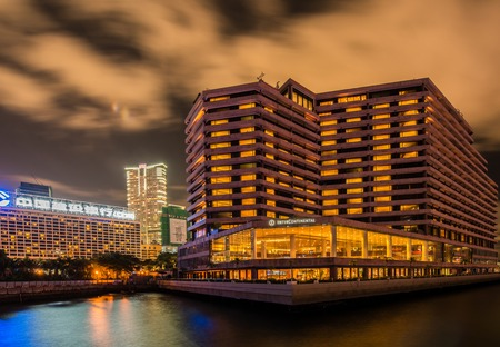 intercontinental: Hong Kong - JULY 27, 2014: Intercontinental Hotel on July 27 in China, Hong Kong. Intercontinental Hotel is a luxury hotel in Hong Kong Editorial