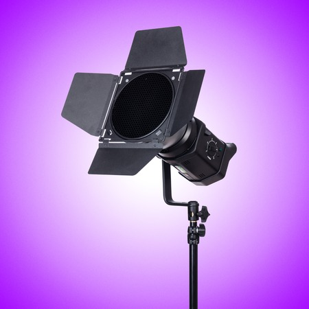 stripbox: Studio light stand against the gradient