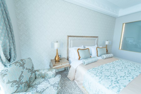Bedroom room in modern style photo