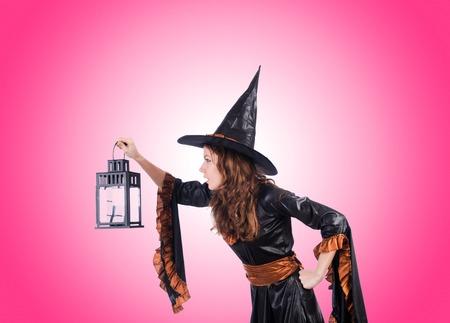 fondo degradado: Witch against the gradient background