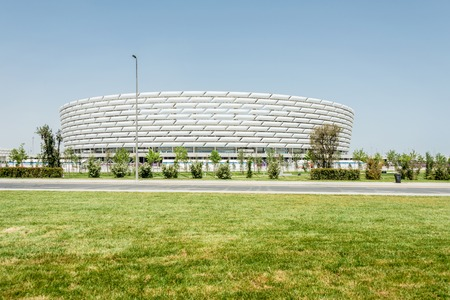 azeri: BAKU - MAY 10, 2015: Baku Olympic Stadium on May 10 in BAKU, Azerbaijan. Baku Azerbaijan will host the first European Games Editorial