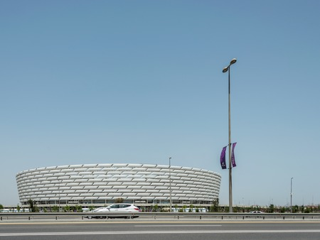 baku: BAKU - MAY 10, 2015: Baku Olympic Stadium on May 10 in BAKU, Azerbaijan. Baku Azerbaijan will host the first European Games Editorial