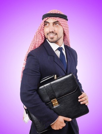 thoub: Arab businessman against the gradient Stock Photo