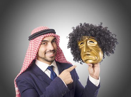 hipocres�a: Hombre �rabe concepto hipocres�a