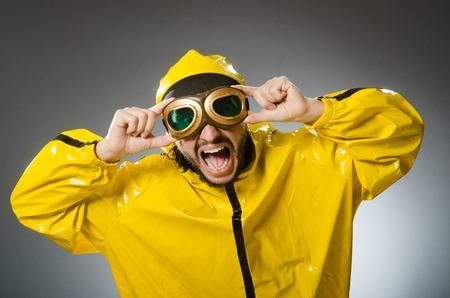 aviator: Man wearing yellow suit and aviator glasses