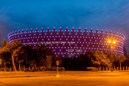 baku: BAKU - MAY 10, 2015: Heydar Aliyev Sports Complex on May 10 in BAKU, Azerbaijan. Baku Azerbaijan will host the first European Games
