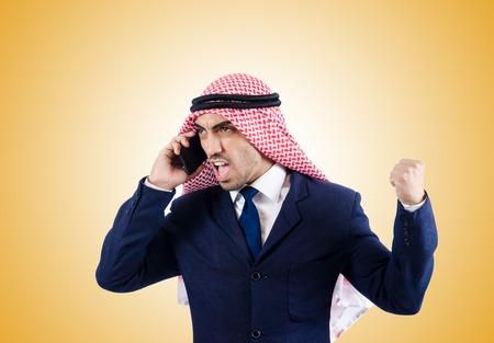 thoub: Arab businessman against the gradient Stock Photo