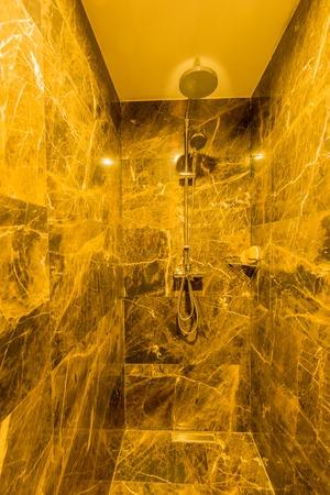 bathroom interior: Modern bathroom interior with bathtub Stock Photo
