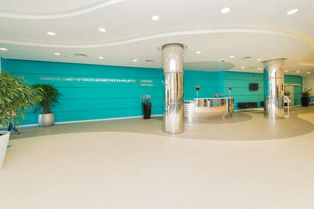 entrances: Hotel lobby with modern design Stock Photo