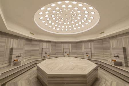 Interior de hammam baño turco Foto de archivo