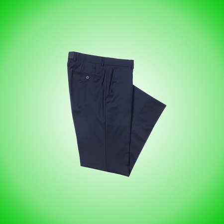 trousers: Fashion concept with trousers against gradient