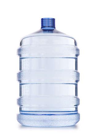 agua purificada: Botella de agua aislado en el blanco Foto de archivo