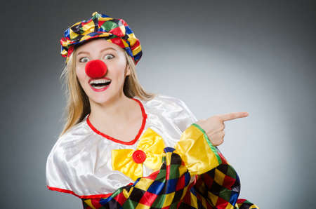 buffoon: Clown in the funny concept