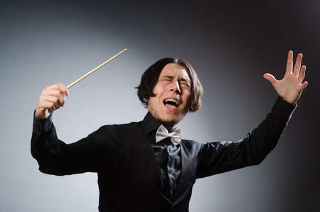 conductor: Funny conductor in musical concept