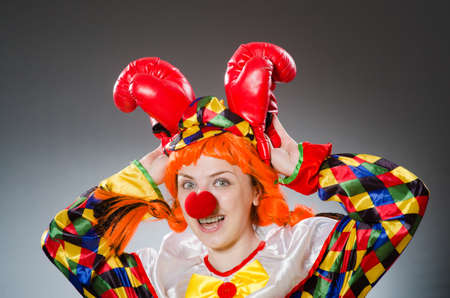 buffoon: Funny clown in comical concept