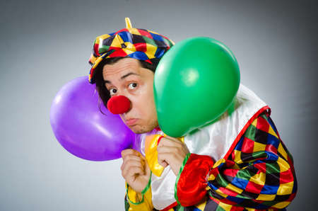 comical: Funny clown in comical concept