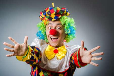 clown cirque: Dr�le de clown dans le concept comique