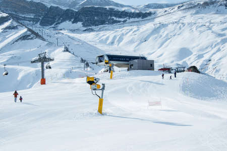 skiing: Ski lifts in Shahdag mountain skiing resort
