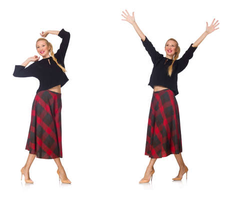 scottish female: Composite photo of woman in various poses Stock Photo