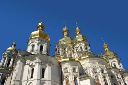spires: Church with golden spires