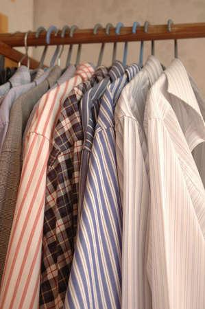 shirtsleeves: Shirts on hangers