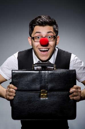 nez de clown: Amusant d'affaires avec nez de clown